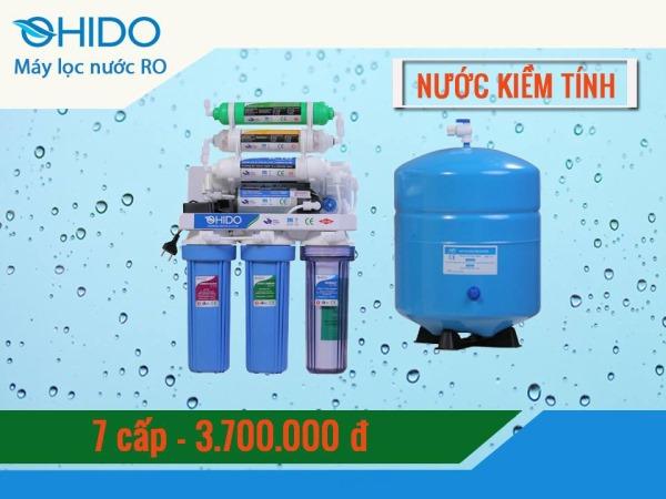máy lọc nước ohido 7 cấp lọc tạo kiềm