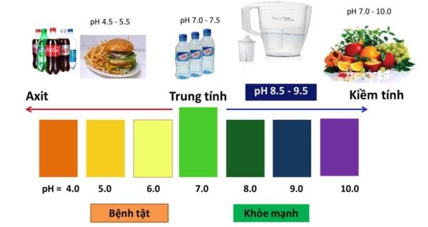 bảng chỉ số mức độ pH ảnh hưởng tới sức khoẻ con người
