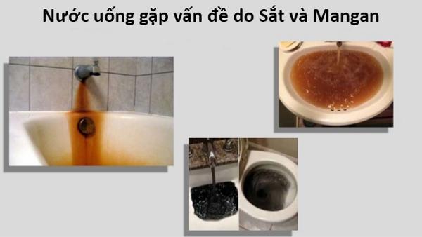Nước uống gặp vấn đề do sắt và mangan