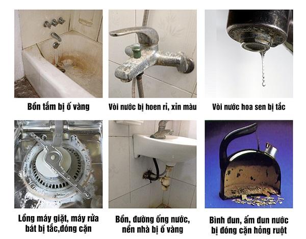Tác hại của nước cứng đối với các thiết bị trong nhà